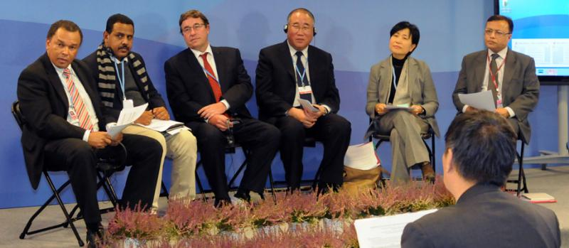 Roundtable on Ecosystem-Based Adaptation in the context of South-South Cooperation at the China Pavilion of COP19 in Warsaw, Poland