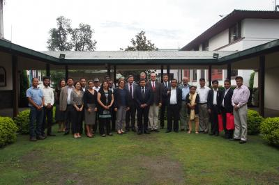 EbA South team at the 4th Project Steering Committee (PSC) meeting in Kathmandu, Nepal, on 28 September 2016